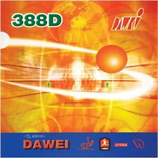 2x Dawei 388D Long Pips-out Table Tennis Rubber/Sponge Sheets, New, USD
