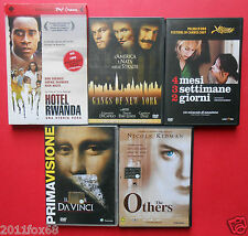 film,dvd hotel rwanda,4 mesi 3 settimane 2 giorni,gangs of new york,the others,f