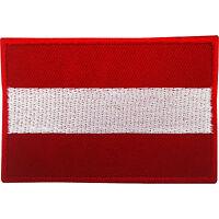 Austria Flag Patch Iron On Badge Sew On Austrian Flag Embroidered Applique Motif
