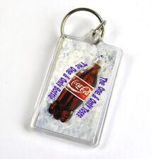 Coca-Cola Coke USA Catena Chiave Catenella Anello Portachiavi Bottiglia