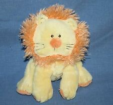 """Carters Plush LION 7"""" Little Collection Rattle Yellow Orange Soft Toy Stuffed"""