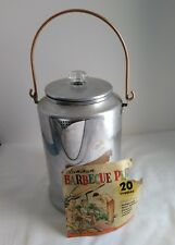 Vintage Aluminum 20 Cup Coffee Camp BBQ Percolator