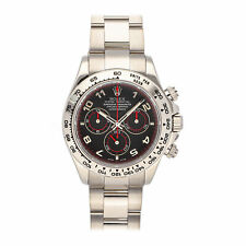 Rolex Cosmograph Daytona Auto 40mm White Gold Mens Oyster Bracelet Watch 116509