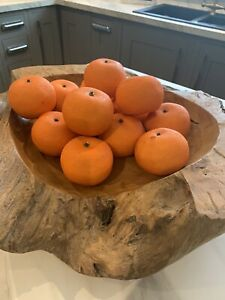 6Pcs Lifelike Artificial Plastic Oranges Fruit Kitchen Display Home Food Decor