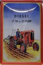 TRAKTOR - NORMAG DIESEL 17,25 UND 33 PS - BLECHSCHILD - 30 x 20 cm (BS 842)