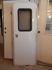 """Trailer Door, 26""""X72"""". With Screen Door/Frame/Locks & Keys, White,Take Out  #32A"""