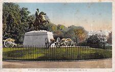 "(095) Postcard of ""Statue of Gen. Andrew Jackson, Washington, D.C."""