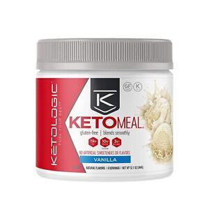 KetoLogic Keto Meal Gluten-Free Vanilla Powder - 8 Servings Exp: 11/2021