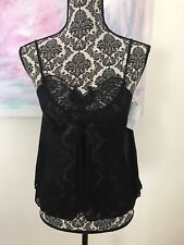 Rampage Juniors Sheer Top Beaded Detail Black New with Tags Butterfly