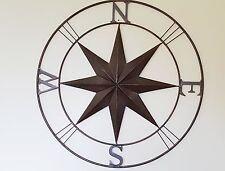 XXL Hampton WALL ART DECOR COMPASS MURAL  NEW antique