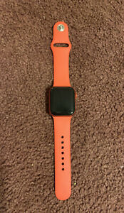 Apple Watch Series 6 44mm Red Aluminum Case with Red Sport Band (GPS)...
