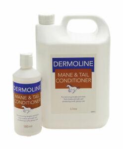 DERMOLINE MANE & TAIL Conditioner Horse Detangler Long Lasting Silky Shine