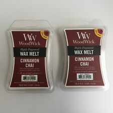 WoodWick Wax Melts Cinnamon Chai [Lot of 2] Scent (3 oz) Packs Scentsy Warmer