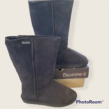 Bearpaw Emma Tall Chocolate Suede Boot - Brown - 8 Medium New In Box
