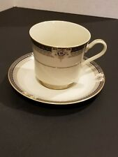 Mikasa China Grande Ivory Tropez L5504 Pattern Footed Cup with Saucer