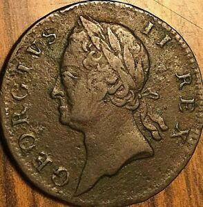 1760 IRELAND GEORGE II HALF PENNY COIN