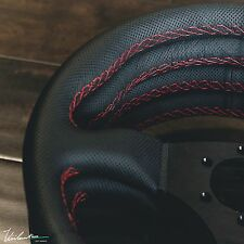 VIILANTE LEGGERA STEERING WHEEL PERFORATED LEATHER RED STITCH RENOWN FITS MOMO