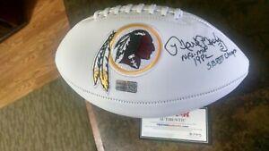 MARK MOSELEY signed Redskins football w/ MVP & Super Bowl Inscriptions, COA