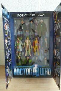 Doctor Who - Eleven Doctors Figures Set  - Boxed 03418 (Hospiscare)