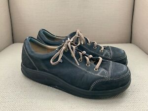 Finn Comfort Ikebukuro Black Nubuck Oxfords Comfort Shoes UK 7W US Womens 9.5