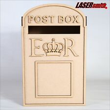 **Personalised** Wedding Post Box, Royal Mail Styled, Flat Pack, Unpainted MDF