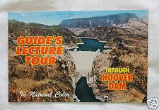VINTAGE - 1974 Through Hoover Dam - Guide's Lecture Tour Souvenir Booklet