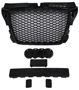 AUDI A3 8P 2008-2013 INC S LINE BLACK HONEYCOMB DEBADGED SPORTS RS STYLE GRILL