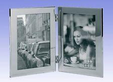 "Stainless Steel Double Portrait Photo Frame 2x(6x8"")  (Starlett NRRW 3198-68HD)"