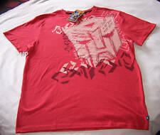 Transformers Autobots Mens Red Printed Short Sleeve T Shirt Size XXS New