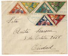 1933 AIRMAIL COVER URUGUAY  International Conference TRIANGLE STAMPS