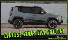 2015 2016 2017 Jeep Renegade Side Rocker Stripe Graphic Vinyl Decal Stye 3