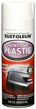 Rust-Oleum Automotive 248650 12-Ounce Paint For Plastic Spray Gloss White