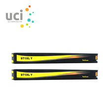 2 Yellow Ink Cartridge for HP 970XL 971XL Officejet Pro X451dw X551dw X576dw