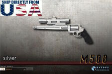 1/6 Scale Pistol Weapon SILVER Gun M500 Magnum For 12'' Hot Toys Figure U.S.A.
