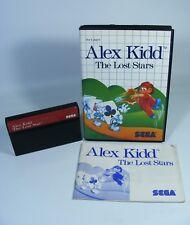 ALEX KIDD THE LOST STARS für Sega Master System - Spiel Modul Anleitung OVP and