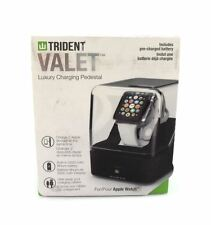 Trident Case Valet Charging Pedestal for Apple Watch Leather OD-APWATC-BKVAL