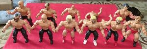 Ten (10) 1982-1985 AWA Remco (baron,Keirn,hawk,lane,Hayes,zby) wrestling figure