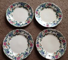 "4 Vintage Antiguo Royal Cauldon ""victoria"" 6"" placas inglés Bone China."