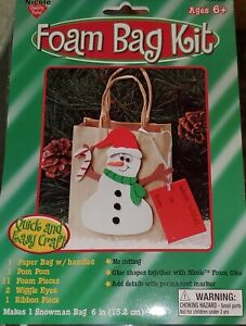 Snowman Paper & Foam Bag Craft Kit - Set of 2