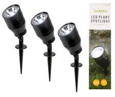 4 x Mini LED Plant Spotlight Indoor Lighting Flower Flowerbed 3 x AAA Batteries