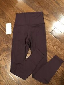 lululemon wunder under high rise tight Size 6 black cherry
