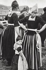 1933/66 Vintage ALFRED EISENSTAEDT Dutch Costume HOLLAND WOMEN Fashion Photo Art