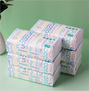PurCotton Soft Dry Wipe, Made of Cotton Only, 600 Count Unscented Cotton Tissues
