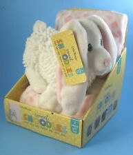 Little Miracles Sweet Snoodles Bunny Rabbit and Baby Blanket Gift Set Pink White