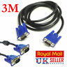 SVGA/VGA 15 PIN MALE TO MALE PC MONITOR TV LCD PLASMA PROJECTOR TFT CABLE LEAD