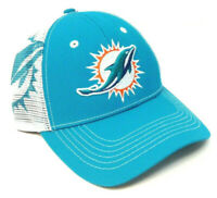 NFL MIAMI DOLPHINS 3D LOGO CURVED BILL ADJUSTABLE MESH TRUCKER SNAPBACK HAT CAP