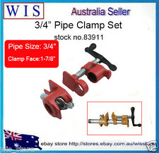 "Heavy Duty Regular Gluing Pipe Clamp Set,Glue Clamp 3/4"" Woodworking Vice-83911"