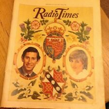 VINTAGE RADIO TIMES MAGAZINE 25 JULY 1981 CHARLES & DIANA ROYAL WEDDING ISSUE
