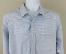 Brooks Brothers 346 Men's Light Blue Checkered Long Sleeve Button Down Shirt