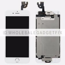 White Touch Screen Digitizer + LCD Display + Frame + Front Camera for Iphone 6